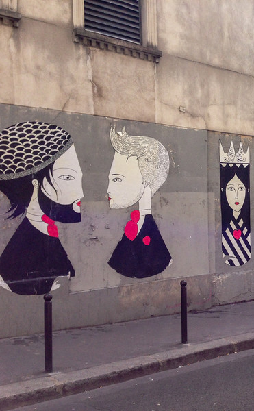 Fred le Chevalier street art, Paris
