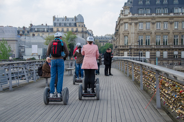 Segways and love locks in Paris
