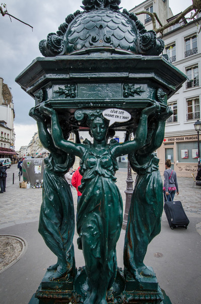 Cast iron water fountains,  Paris