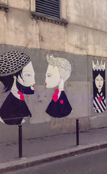 Fred le Chevalier street art, Paris