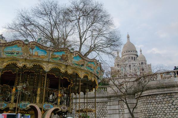 Sacré-Cœur Basilica Carousel, Paris